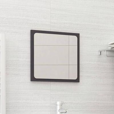 vidaXL Badrumsspegel grå 40x1,5x37 cm spånskiva