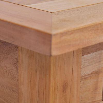 vidaXL Soffbord 100x50x30 cm massiv mahogny