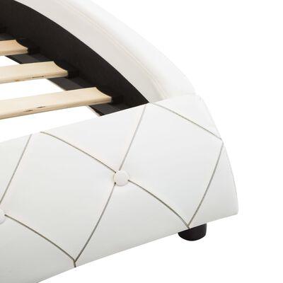 vidaXL Sängram vit konstläder 180x200 cm