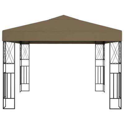 vidaXL Paviljong 3x3 m taupe tyg