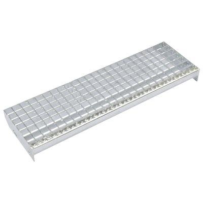 vidaXL Trappsteg 4 st press-låst galvaniserat stål 900x240 mm