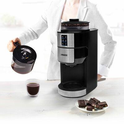 Princess Kaffebryggare & kaffekvarn Compact 750W svart