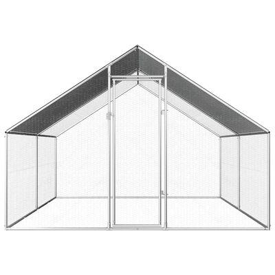 vidaXL Hönsbur för utomhusbruk 2,75x4x1,92 m galvaniserat stål