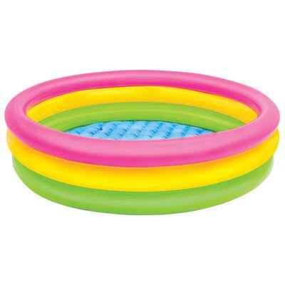 Intex Uppblåsbar pool Sunset 3 ringar 114x25 cm,