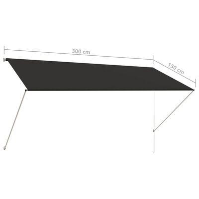 vidaXL Markis 300x150 cm antracit