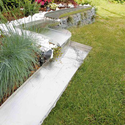 Ubbink Trädgårdsvattenfall rostfritt stål Wolga vänsterhörn