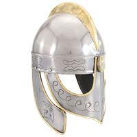 vidaXL Beowulf-hjälm för LARP silver stål