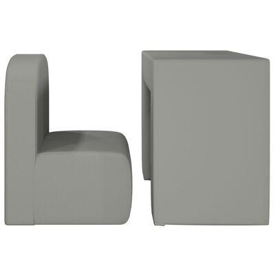 vidaXL 2-i-1 barnfåtölj grå konstläder