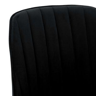 vidaXL Matstolar 6 st svart sammet