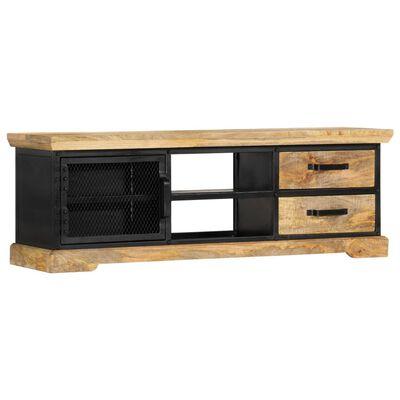 vidaXL TV-bänk svart 120x30x40 cm massivt mangoträ