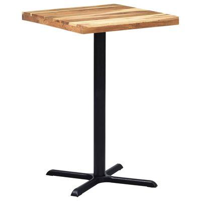 vidaXL Bordsben för cafébord 76x76x107 cm gjutjärn