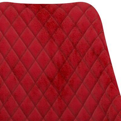 vidaXL Matgrupp 5 delar röd