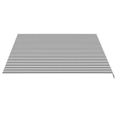 vidaXL Markisväv antracit och vit 4,5x3,5 m