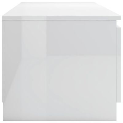 vidaXL TV-bänk vit högglans 140x40x35,5 cm spånskiva