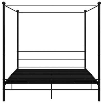 vidaXL Himmelsäng svart metall 200x200 cm