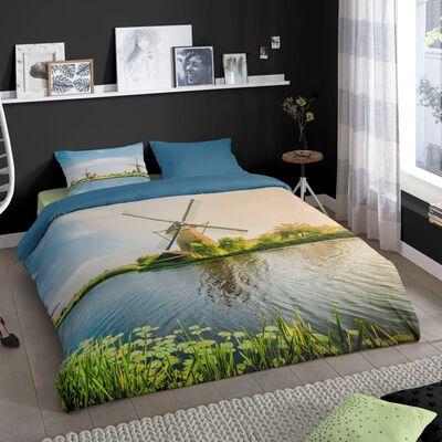 Good Morning Bäddset WINDMILL 200x200 cm flerfärgat