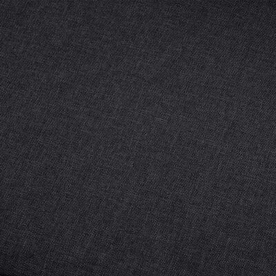 vidaXL 4-sitssoffa mörkgrå tyg
