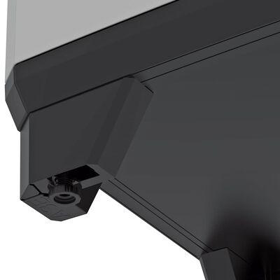 Keter Lågt förvaringsskåp Stilo grå och svart 90 cm
