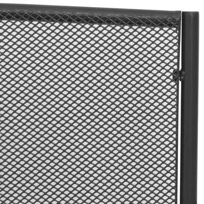 vidaXL Trädgårdsbänk 108 cm stål och nät antracit