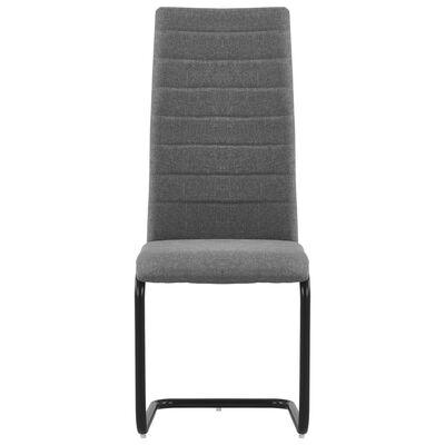 vidaXL Fribärande matstolar 6 st ljusgrå tyg