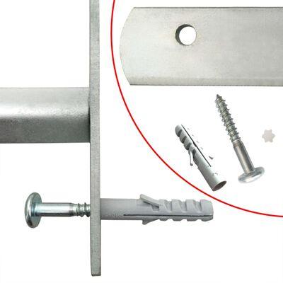 vidaXL Fönstergaller med 3 stänger 700-1050 mm justerbart