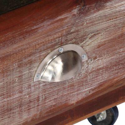 vidaXL Högskåp 89x42x183 cm massivt återvunnet trä