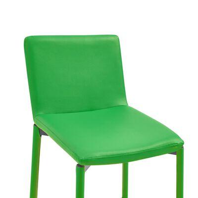 vidaXL Bargrupp 3 delar konstläder grön
