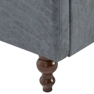 vidaXL Chesterfieldsoffor 2 st tygklädsel grå