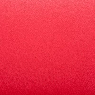 vidaXL Fåtölj med fotpall röd konstläder