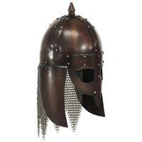 vidaXL Vikingahjälm för LARP koppar stål