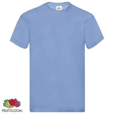 Fruit of the Loom Original t-shirt 5-pack ljusblå stl. L bomull