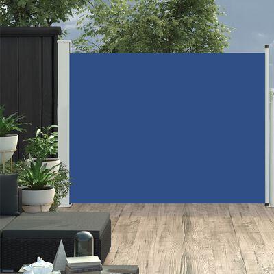 vidaXL Infällbar sidomarkis 140x500 cm blå