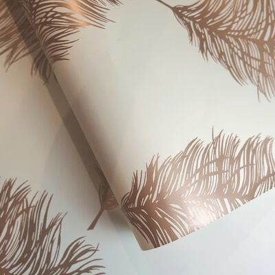 DUTCH WALLCOVERINGS Tapet Fawning Feather gräddvit