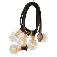 KONSTSMIDE Ljusslinga med 10 lampor gummi extra varm