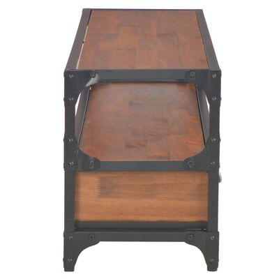 vidaXL TV-bänk med 2 lådor 120x30x40 cm massiv furu