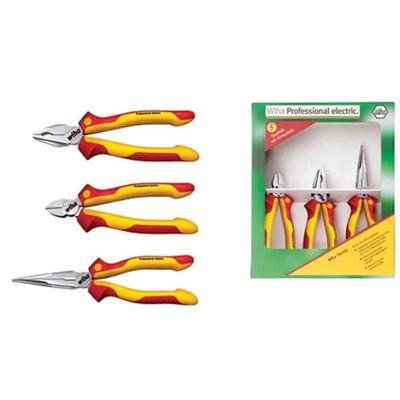 Wiha Kombinationstång 4 delar verktygssats för elektriker
