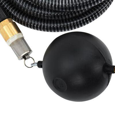 vidaXL Sugslang med kopplingar i mässing 7 m 25 mm svart