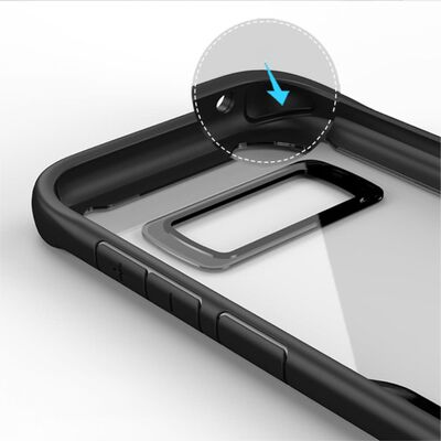 IPAKY Samsung Galaxy S8 Plus TPU Hybrid Skal - Svart