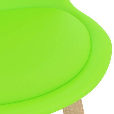vidaXL Barstolar 4 st grön PP och massivt bokträ