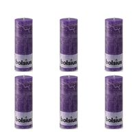 Bolsius Blockljus 190x68 mm lila 6-pack
