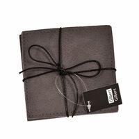 Gilbert Gilbert Glasunderlägg grå läderlook 4-pack