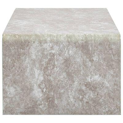 vidaXL Soffbord brun marmor 98x45x31 cm härdat glas
