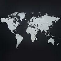 MiMi Innovations Väggdekoration världskarta trä Luxury vit 130x78 cm