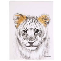 CHILDHOME Oljemålning guld lejon 30x40cm