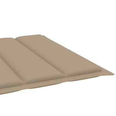 vidaXL Solsängsdyna beige 200x70x4 cm tyg