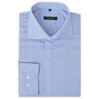 vidaXL Kostymskjorta för män storlek M blå- och vitrandig