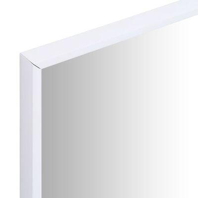 vidaXL Väggspegel 80x60 cm vit