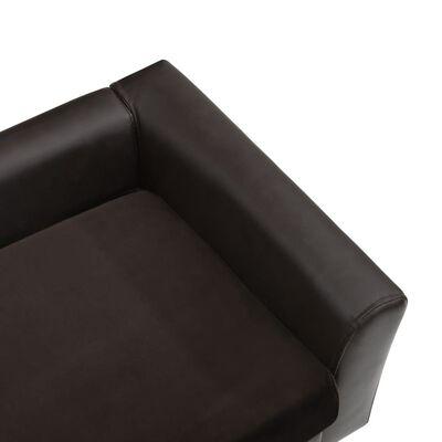 vidaXL Hundsoffa brun 60x43x30 cm plysch och konstläder