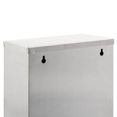 vidaXL Sopsorteringskärl silver rostfritt stål 24 L