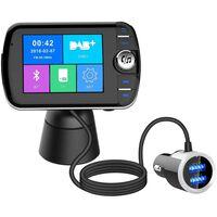 Trådlös Bluetooth LCD FM sändare med MP3 USB Handsfree för bilen
